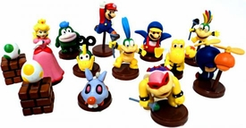 Furuta New Super Mario Bros. Wii Collection Series 1 Set of 13 Mini 2 Inch PVC Figures [Includes Penguin Mario & Variant Egg!]