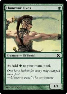 Magic the Gathering Tenth Edition Single Card Common #274 Llanowar Elves