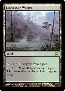 Magic the Gathering Tenth Edition Single Card Rare #355 Llanowar Wastes