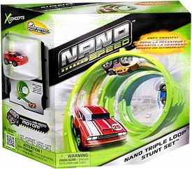 Nano Speed Micro Car Playset Nano Triple Loop Stunt Set