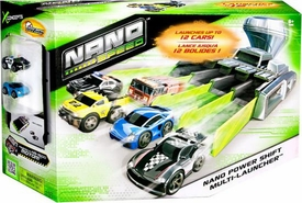 Nano Speed Micro Car Playset Nano Power Shift Multi-Launcher