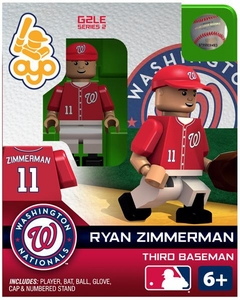 OYO Baseball MLB Generation 2 Building Brick Minifigure Ryan Zimmerman [Washington Nationals]