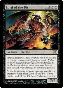 Magic the Gathering Tenth Edition Single Card Rare #154 Lord of the Pit