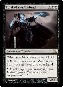 Magic the Gathering Tenth Edition Single Card Rare #155 Lord of the Undead