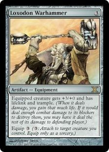 Magic the Gathering Tenth Edition Single Card Rare #332 Loxodon Warhammer