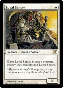 Magic the Gathering Tenth Edition Single Card Rare #27 Loyal Sentry