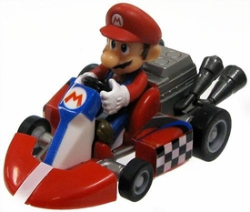 Tomy Gacha Mario Kart 1.5 Inch Pull Back Racer Go-Kart Mario [Rounded Front Bumper]