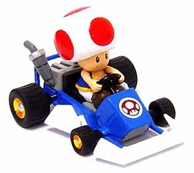 Super Mario Kart BanPresto 4 Inch Mini Figure Toad in Go-Kart