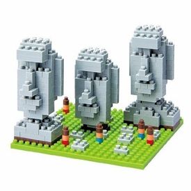 Nanoblock Micro-Sized Building Block Figure Moai Statues on Easter Island