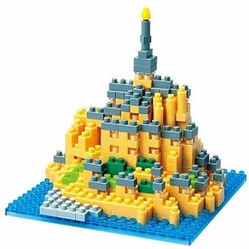 Nanoblock Micro-Sized Building Block Figure Mont Saint-Michel