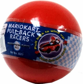 Tomy Gacha Mario Kart DS Pull Back Racers Mini PVC Figure Blind Pack [Red Bubble]