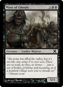 Magic the Gathering Tenth Edition Single Card Common #156 Mass of Ghouls