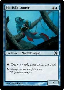 Magic the Gathering Tenth Edition Single Card Common #92 Merfolk Looter