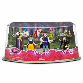 Disney Princess Snow White 8 Piece PVC Figurine Playset [Sleepy, Dopey, Grumpy, Queen, Prince Charming, Snow White, Evil Witch & Woodland Creatures]