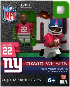 OYO Football NFL Building Brick Minifigure David Wilson [New York Giants] BLOWOUT SALE!