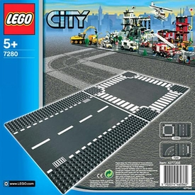 LEGO City Set #7280 Straight & Crossroads Plates