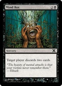 Magic the Gathering Tenth Edition Single Card Common #159 Mind Rot