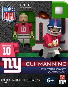 OYO Football NFL Building Brick Minifigure Eli Manning [New York Giants]
