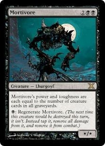 Magic the Gathering Tenth Edition Single Card Rare #161 Mortivore