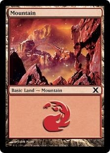 Magic the Gathering Tenth Edition Single Card Land #376 Mountain [Random Artwork]