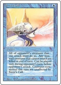 Magic the Gathering Revised Edition Single Card Uncommon Siren's Call