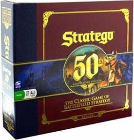 Board Game The Classic Game of Battlefield Strategy Stratego: 50th Anniversary Edition