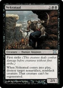 Magic the Gathering Tenth Edition Single Card Uncommon #163 Nekrataal