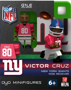 OYO Football NFL Building Brick Minifigure Victor Cruz [New York Giants]