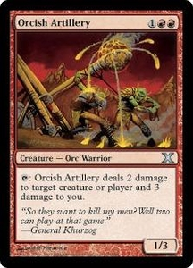 Magic the Gathering Tenth Edition Single Card Uncommon #220 Orcish Artillery