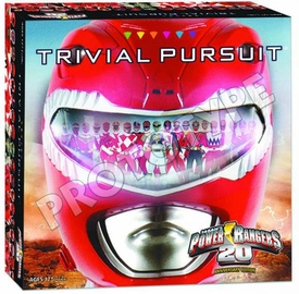 Trivial Pursuit Board Game Power Rangers 20th Anniversary Edition