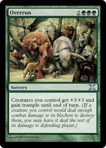 Magic the Gathering Tenth Edition Single Card Uncommon #284 Overrun