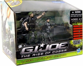 GI Joe Movie The Rise of Cobra Exclusive Laser Artillery Weapon Damaged Package, Mint Contents!