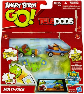 Angry Birds GO! Telepods Multi-Pack 3-Pack [2 Karts, 2 Targets & 1 Base]
