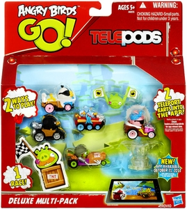 Angry Birds GO! Telepods Deluxe Multi-Pack 6-Pack [5 Karts, 2 Targets & 1 Base]