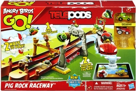 Angry Birds GO! Telepods Pig Rock Raceway [2 Karts & 3 Pigs!]