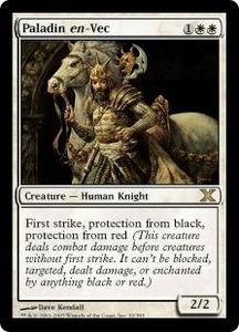 Magic the Gathering Tenth Edition Single Card Rare #32 Paladin en-Vec