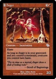 Magic the Gathering Judgment Single Card Uncommon #77 Anger