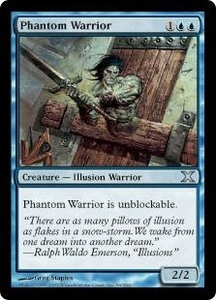 Magic the Gathering Tenth Edition Single Card Uncommon #96 Phantom Warrior