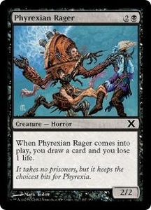 Magic the Gathering Tenth Edition Single Card Common #167 Phyrexian Rager