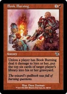 Magic the Gathering Judgment Single Card Common #80 Book Burning