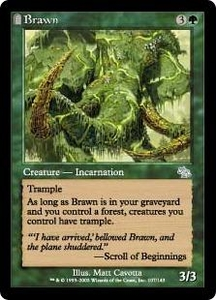 Magic the Gathering Judgment Single Card Uncommon #107 Brawn