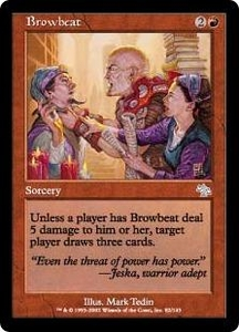 Magic the Gathering Judgment Single Card Uncommon #82 Browbeat