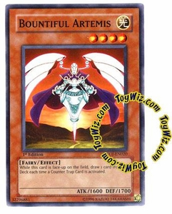 YuGiOh GX Enemy of Justice Single Card Common EOJ-EN020 Bountiful Artemis