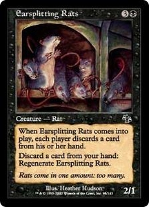 Magic the Gathering Judgment Single Card Common #65 Earsplitting Rats