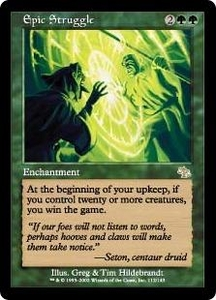 Magic the Gathering Judgment Single Card Rare #112 Epic Struggle