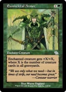 Magic the Gathering Judgment Single Card Uncommon #114 Exoskeletal Armor