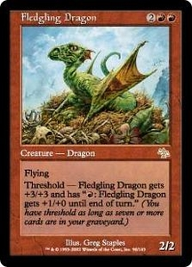 Magic the Gathering Judgment Single Card Rare #90 Fledgling Dragon