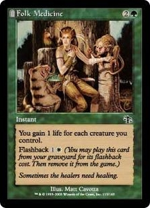 Magic the Gathering Judgment Single Card Common #115 Folk Medicine