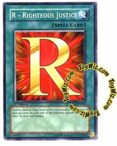 YuGiOh GX Enemy of Justice Single Card Common EOJ-EN040 R - Righteous Justice