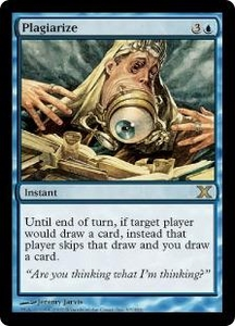 Magic the Gathering Tenth Edition Single Card Rare #97 Plagiarize
